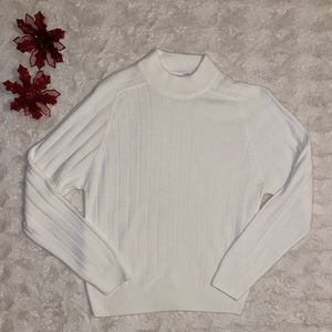 Cream Mockneck Long Sleeve Sweater